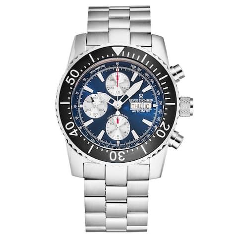 Revue Thommen Men's 17030.6125 'Divers' Blue Dial Day-Date Chronograph Automatic Watch