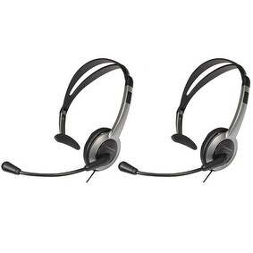 Panasonic KX-TCA430 (2 Pack) Telephone Headset w/ Noise Cancelation Mic Volume Control