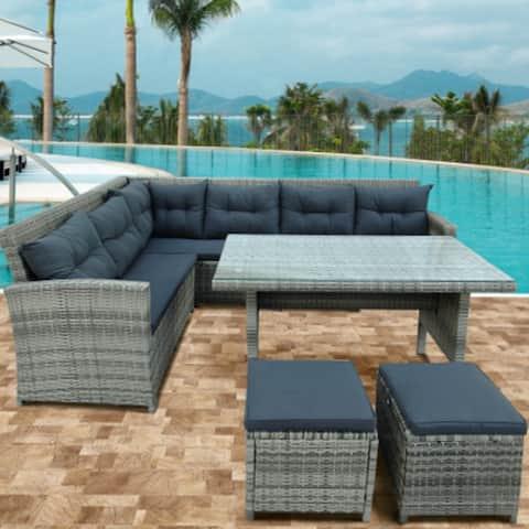TOPMAX 6-Piece Patio Furniture Set Outdoor Sectional Sofa
