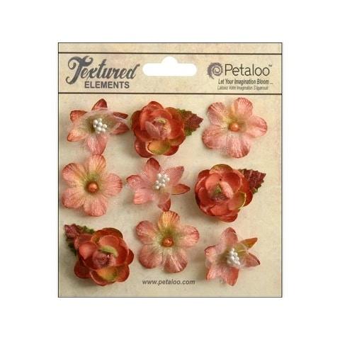 Petaloo Textured Elements Mini Blossoms Apricot