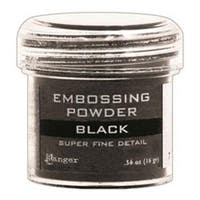 Super Fine Black - Embossing Powder 1Oz Jar