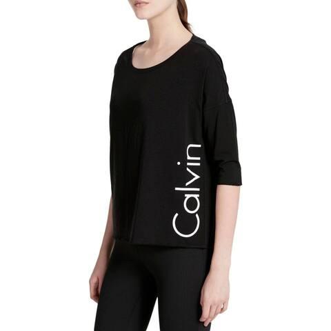 Calvin Klein Performance Women's Dolman-Sleeve Top, XL