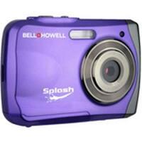 Bell & Howell Wp7P Purple Waterproof Digital Camera Splash