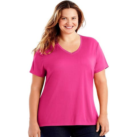 Just My Size Cool DRI® Short-Sleeve Women's V-Neck Tee