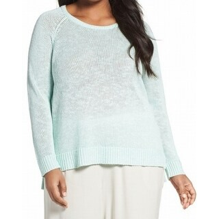 Eileen Fisher NEW Green Mint Women's Size 1X Plus Crewneck Sweater