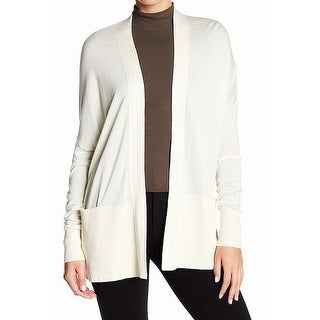 Vince. White Women's Size Small S Open Front Cardigan Silk Sweater