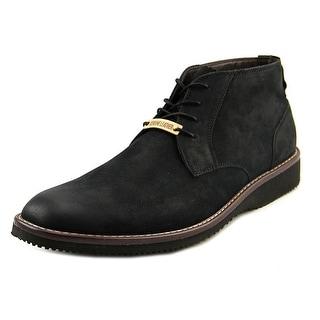 Dockers Merritt Memory Foam Boots Men Round Toe Leather Black Boot