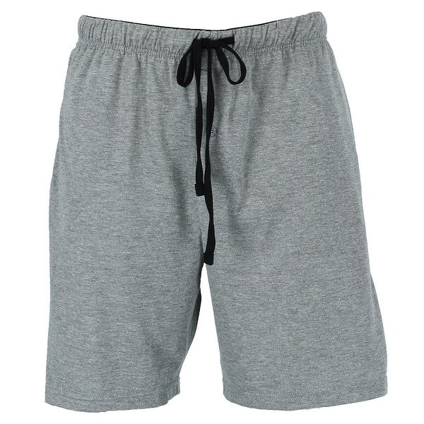 Hanes Men's Jersey Knit Cotton Button Fly Pajama Sleep Shorts. Opens flyout.