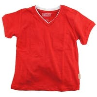 Smith's American Little Boys' Classic V-Neck T-Shirt With Chest Pocket