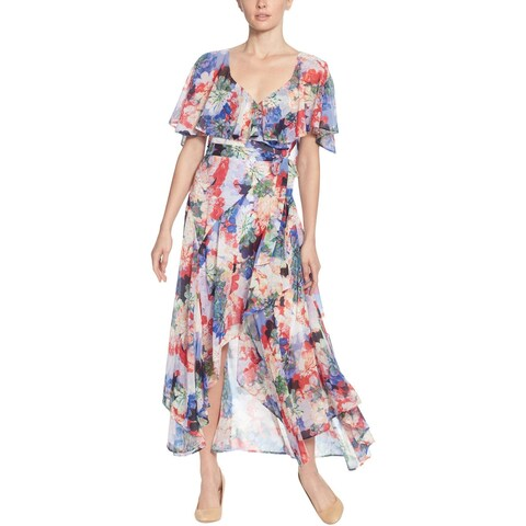 CATHERINE CATHERINE MALANDRINO Womens Modern Dance Wrap Dress Chiffon