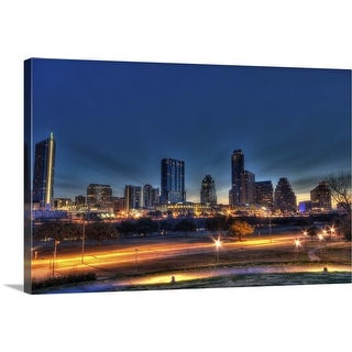 """Austin Skyline"" Canvas Wall Art"