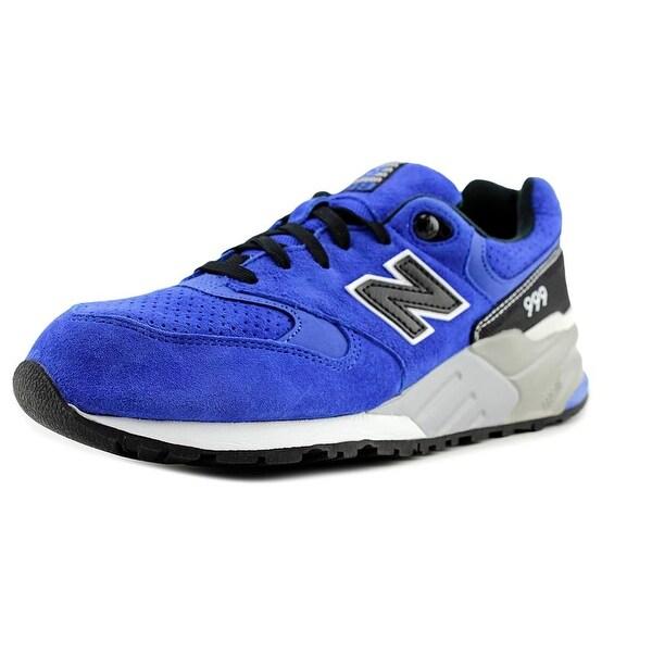 9c63e1460e Shop New Balance ML999 Men Round Toe Canvas Blue Sneakers - Free ...