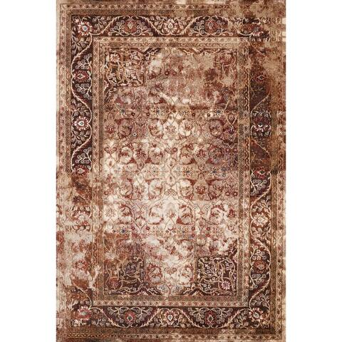 Westfield Home Cairo Nora Distressed Cerulean Area Rug
