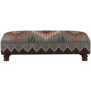 """Link to Handmade Kilim Upholstered Wooden Bench - 48""""x16""""x16"""" Similar Items in Living Room Furniture"""