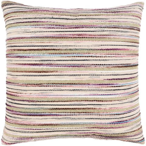 Iliana Metallic Striped Multicolor Throw Pillow