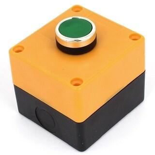 Unique Bargains AC 660V 10A SPDT 1NO 1NC Momentary Plastic Push Button Station Control Box