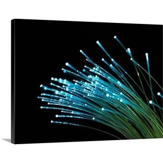 Premium Thick-Wrap Canvas entitled Fiber optic cables