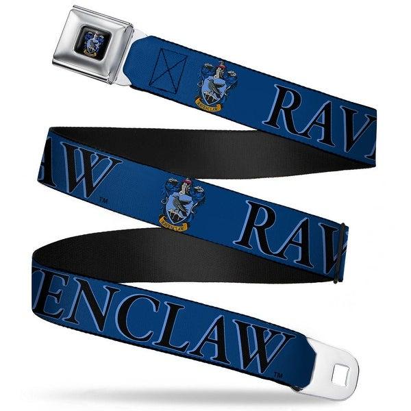 Ravenclaw Crest Full Color Harry Potter Ravenclaw & Crest Blue Black Seatbelt Belt
