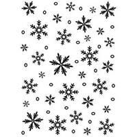 "Snowflake - Embossing Folder Background 5""X7"""