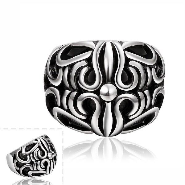 Vienna Jewelry Roman Inspired Stainless Steel Ring