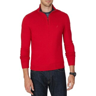Nautica Mens Big & Tall Mock Sweater 1/4 Zip Knit - 1xlt
