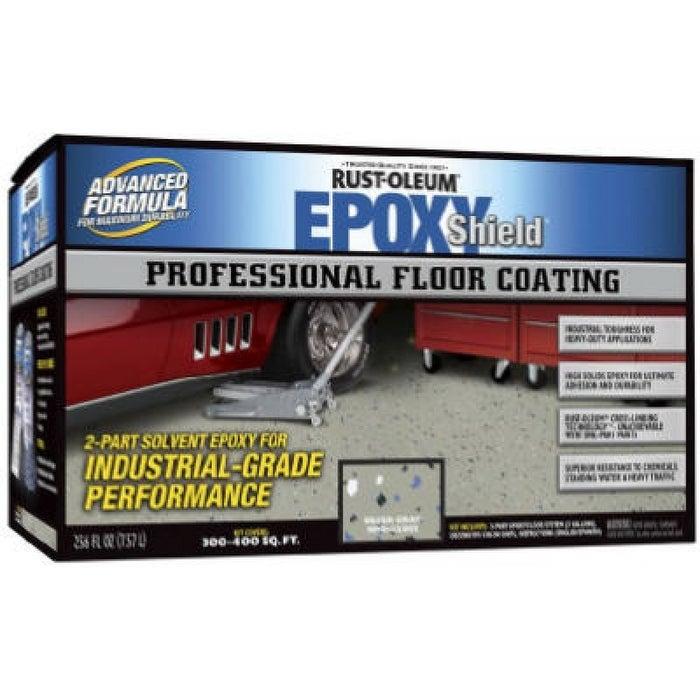Epoxy Shield Professional Floor Coating Kit, 2 Gallon, Silver Gray
