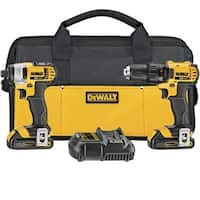 Dewalt DWDCK280C2 20V Max Li-Ion Compact Drill And Impact Combo Kit