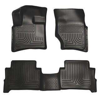 Husky Weatherbeater 2007-2015 Audi Q7 Bench Seats Black Front & Rear Floor Mats/Liners