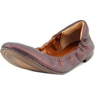 7 For All Mankind Prisma Round Toe Leather Ballet Flats