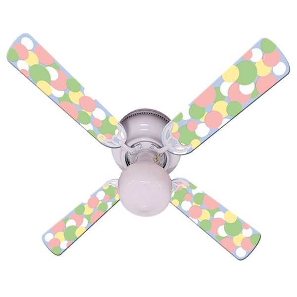Pastel Dot Print Blades 42in Ceiling Fan Light Kit - Multi