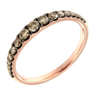 Prism Jewel 0.49Ct Round Brown SI1 Color Diamond Wedding Band