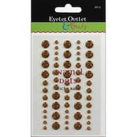 Gold - Eyelet Outlet Adhesive-Back Enamel Dot 60/Pkg