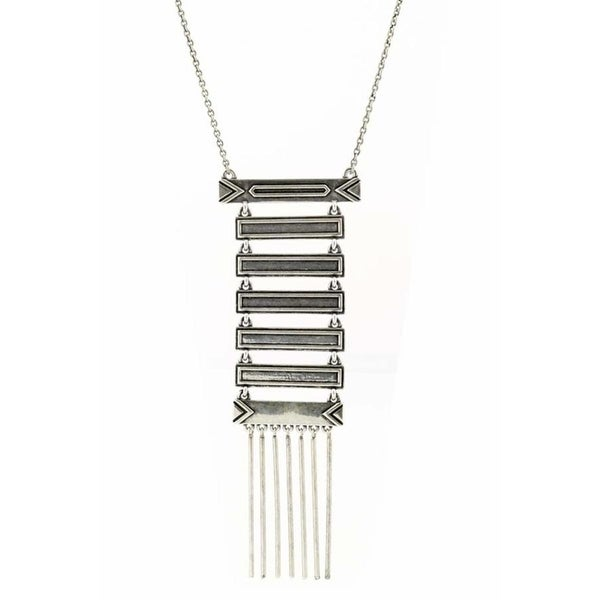 House of Harlow by Nicole Richie Womens Totem Pole Pendant Necklace Antiqued - Silver