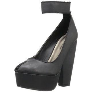 Michael Antonio Womens Aliza Pumps Faux Leather Peep Toe