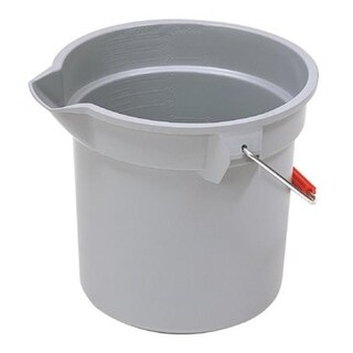 Rubbermaid Commercial 640-2963-GRAY 10Qt Round Brute Bucketgray