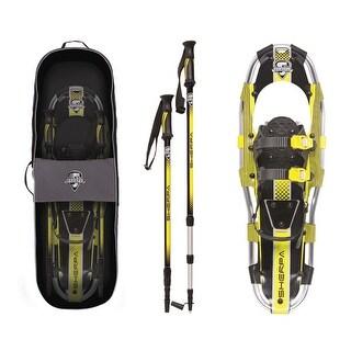 Yukon charlie's sherpa snowshoes kit 8 x 21 yellow