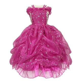 Calla Collection Girls Fuchsia Glitter Star Pick-Up Halloween Dress