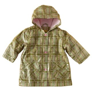 Pluie Pluie Little Girls Green Plaid Lined Raincoat Outerwear 12M-10 (4 options available)