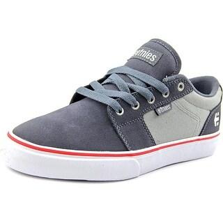 Etnies Barge LS Men Round Toe Leather Gray Skate Shoe