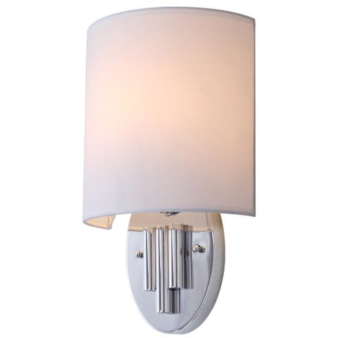 "SAFAVIEH Lighting Darlene Chrome Wall Sconce (Set of 2) - 9""x4.75""x14.75"""