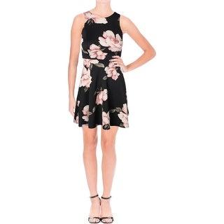 Aqua Womens Scuba Dress Scuba Floral Print