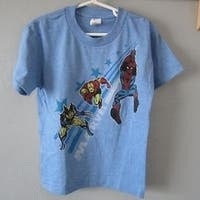 Marvel Comics Superheroes Kids M Medium Blue Shirt 68Km