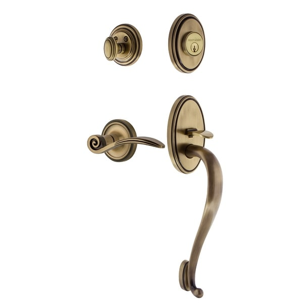 Nostalgic Warehouse CLASWN_ESET_238_SG_LH Classic Left Handed Sectional Single Cylinder Keyed Entry Handleset with S Grip and
