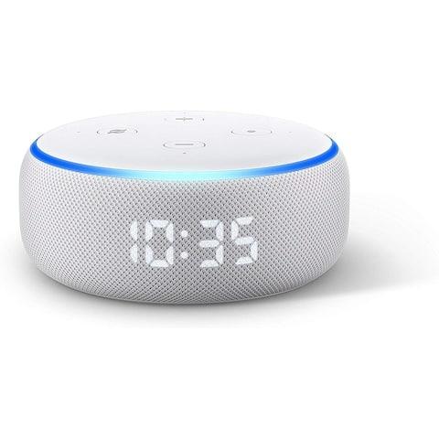 "Amazon Echo Dot 3rd Generation with Clock Smart Speaker with Alexa - White - 1.6"""