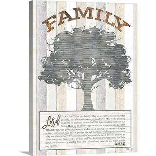 """""""A Family Prayer Tree"""" Canvas Wall Art"""