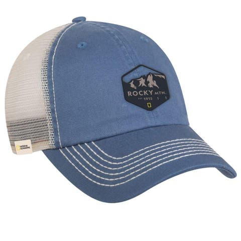 National Geographic Rocky Mountain Adult Trucker Hat Blue One Size