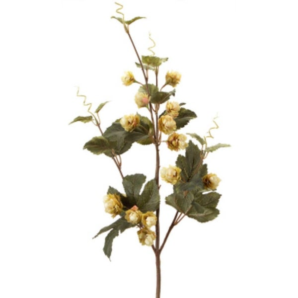 """Set of 6 Brown and Green Wild Hops Flower Sprays 33"""""""