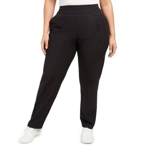 Ideology Plus Women's Athletic Leggings, Noir Black, 1X
