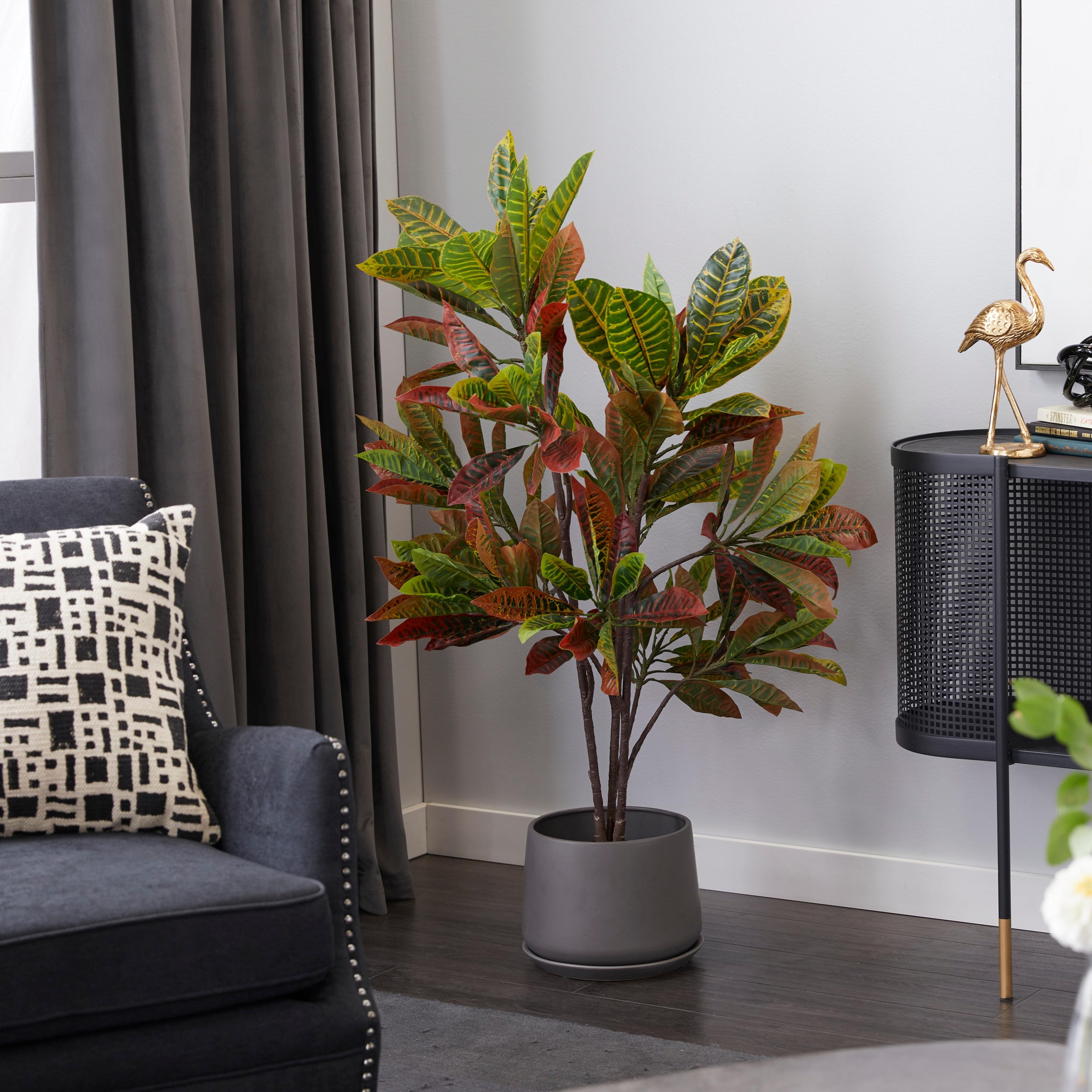 Artificial Plants In Pots For Home Decor Indoor 46 Green 25x27x53 Overstock 32044075
