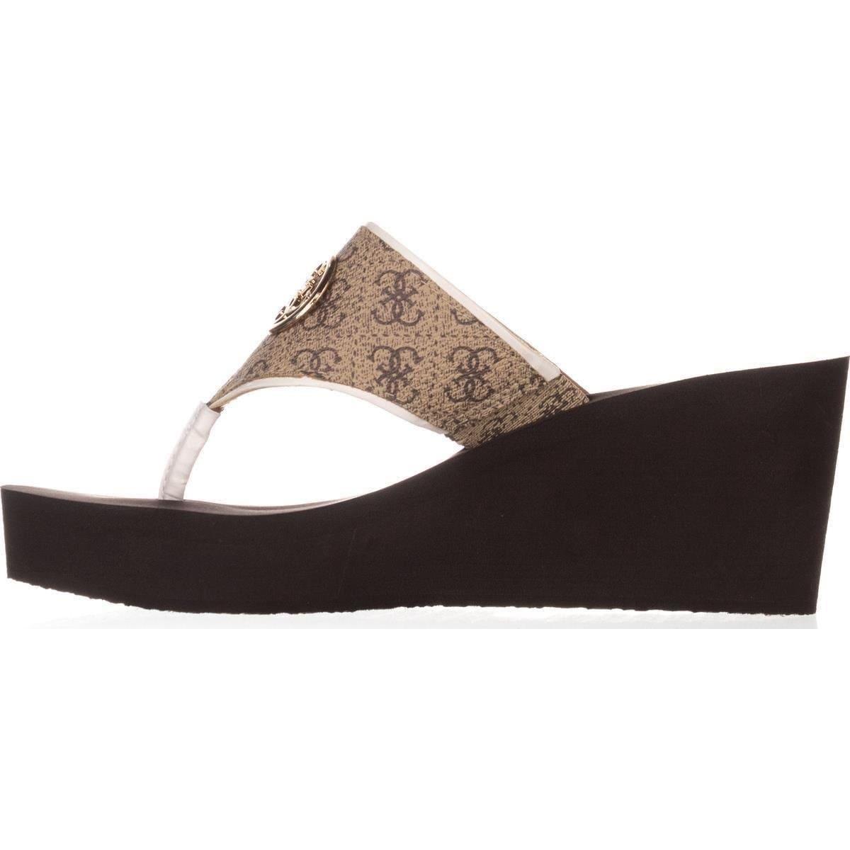 GUESS Womens Solene Thongs Wedges Wedge Sandals